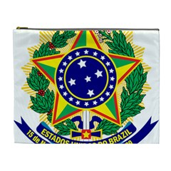 Coat of Arms of Brazil Cosmetic Bag (XL)