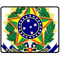 Coat of Arms of Brazil Fleece Blanket (Medium)