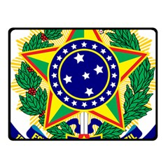 Coat of Arms of Brazil Fleece Blanket (Small)