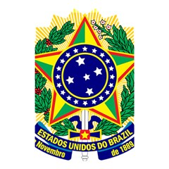 Coat of Arms of Brazil Shower Curtain 48  x 72  (Small)