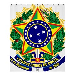 Coat of Arms of Brazil Shower Curtain 60  x 72  (Medium)