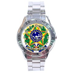 Coat of Arms of Brazil Stainless Steel Analogue Watch