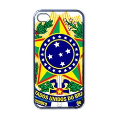 Coat of Arms of Brazil Apple iPhone 4 Case (Black)