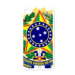 Coat of Arms of Brazil Apple iPhone 4 Case (White)