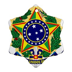 Coat of Arms of Brazil Snowflake Ornament (2-Side)