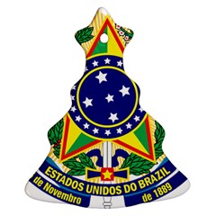 Coat of Arms of Brazil Christmas Tree Ornament (2 Sides)