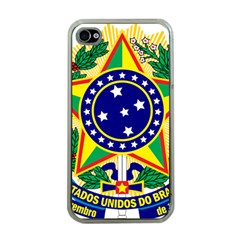 Coat of Arms of Brazil Apple iPhone 4 Case (Clear)