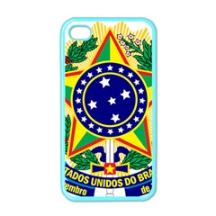 Coat of Arms of Brazil Apple iPhone 4 Case (Color)