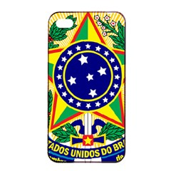 Coat of Arms of Brazil Apple iPhone 4/4s Seamless Case (Black)