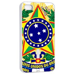 Coat of Arms of Brazil Apple iPhone 4/4s Seamless Case (White)