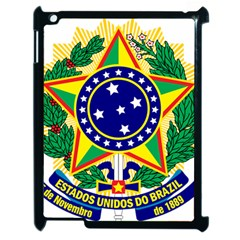 Coat of Arms of Brazil Apple iPad 2 Case (Black)