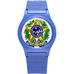 Coat of Arms of Brazil Round Plastic Sport Watch (S)