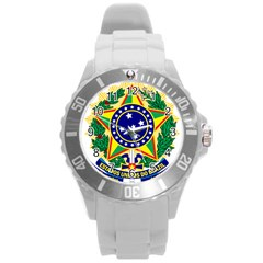 Coat of Arms of Brazil Round Plastic Sport Watch (L)