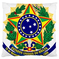 Coat of Arms of Brazil Large Cushion Case (One Side)