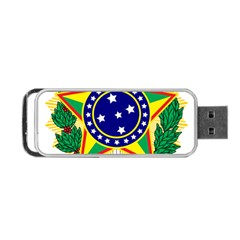 Coat of Arms of Brazil Portable USB Flash (One Side)