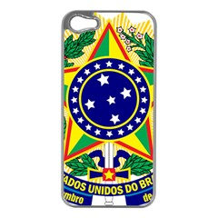 Coat of Arms of Brazil Apple iPhone 5 Case (Silver)