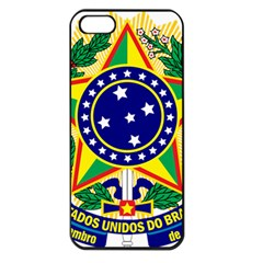 Coat of Arms of Brazil Apple iPhone 5 Seamless Case (Black)