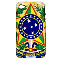 Coat of Arms of Brazil Apple iPhone 4/4S Hardshell Case (PC+Silicone)
