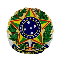 Coat of Arms of Brazil Standard 15  Premium Round Cushions