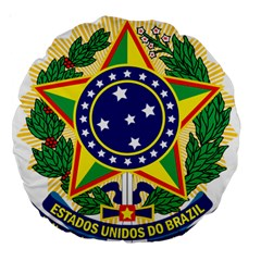Coat of Arms of Brazil Large 18  Premium Round Cushions