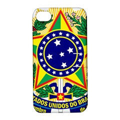 Coat of Arms of Brazil Apple iPhone 4/4S Hardshell Case with Stand
