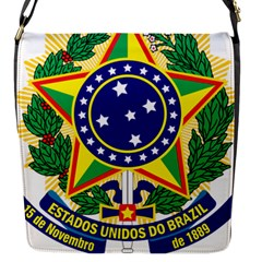 Coat of Arms of Brazil Flap Messenger Bag (S)
