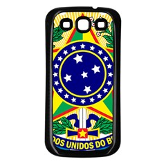 Coat of Arms of Brazil Samsung Galaxy S3 Back Case (Black)