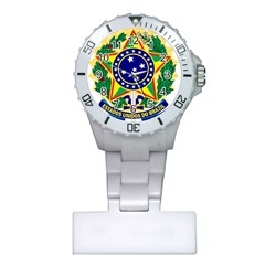 Coat of Arms of Brazil Plastic Nurses Watch