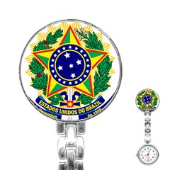 Coat of Arms of Brazil Stainless Steel Nurses Watch
