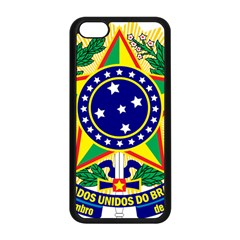 Coat of Arms of Brazil Apple iPhone 5C Seamless Case (Black)