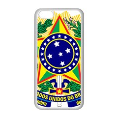 Coat of Arms of Brazil Apple iPhone 5C Seamless Case (White)