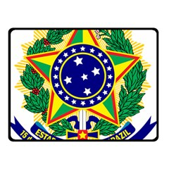 Coat of Arms of Brazil Double Sided Fleece Blanket (Small)