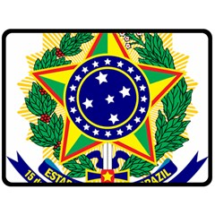 Coat of Arms of Brazil Double Sided Fleece Blanket (Large)