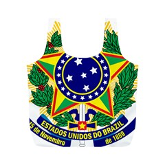 Coat of Arms of Brazil Full Print Recycle Bags (M)