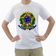 Coat of Arms of Brazil Men s T-Shirt (White)