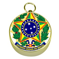 Coat of Arms of Brazil Gold Compasses