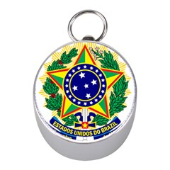 Coat of Arms of Brazil Mini Silver Compasses