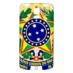 Coat of Arms of Brazil Samsung Galaxy S5 Back Case (White)
