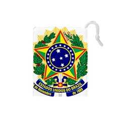 Coat of Arms of Brazil Drawstring Pouches (Small)