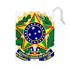 Coat of Arms of Brazil Drawstring Pouches (Large)