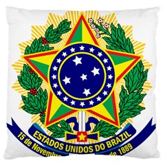 Coat of Arms of Brazil Large Flano Cushion Case (One Side)