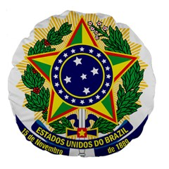 Coat of Arms of Brazil Large 18  Premium Flano Round Cushions