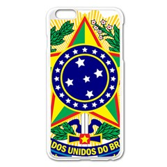 Coat of Arms of Brazil Apple iPhone 6 Plus/6S Plus Enamel White Case