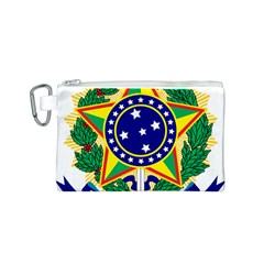 Coat of Arms of Brazil Canvas Cosmetic Bag (S)