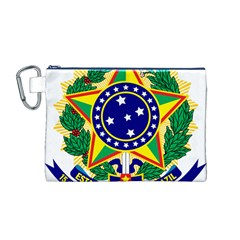 Coat of Arms of Brazil Canvas Cosmetic Bag (M)