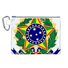 Coat of Arms of Brazil Canvas Cosmetic Bag (L)