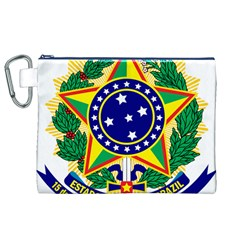 Coat of Arms of Brazil Canvas Cosmetic Bag (XL)