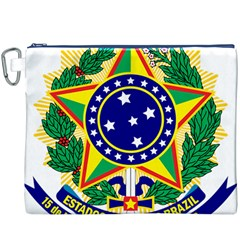 Coat of Arms of Brazil Canvas Cosmetic Bag (XXXL)