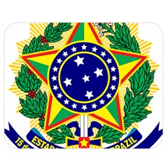 Coat of Arms of Brazil Double Sided Flano Blanket (Medium)