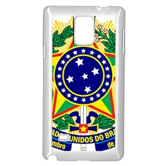 Coat of Arms of Brazil Samsung Galaxy Note 4 Case (White)